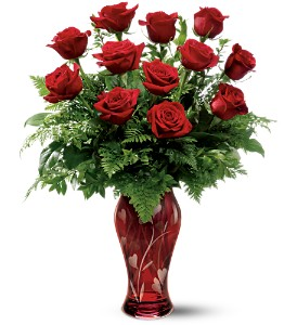 Teleflora's 12 Kisses Bouquet in Norwich NY, Pires Flower Basket, Inc.