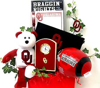OU85 ''Boomer Sooner'' Gift Basket in Oklahoma City OK, Array of Flowers & Gifts