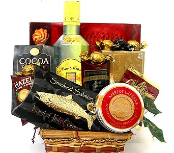 GF10 ''Savory Selection'' Gourmet Basket in Oklahoma City OK, Array of Flowers & Gifts