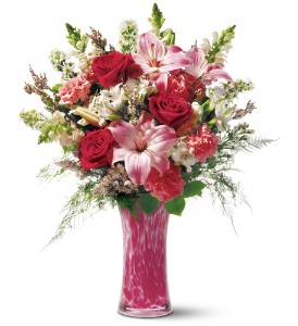 Teleflora's Pink Art Glass Bouquet in Bellevue PA, Fred Dietz Floral