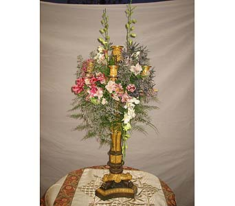 Exotica's Candelabra Decoration in Fairfax VA, Exotica Florist, Inc.