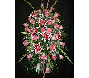 All Pinks - Standing Easel Spray in Dallas TX, Z's Florist