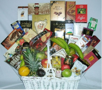 The VIP Fruit and Gourmet Basket. in Brooklyn NY, David Shannon Florist & Nursery