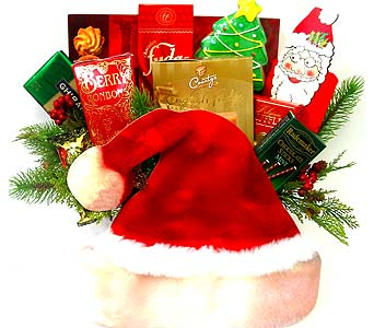XGF30 ''Dear Santa'' Gourmet Basket in Oklahoma City OK, Array of Flowers & Gifts