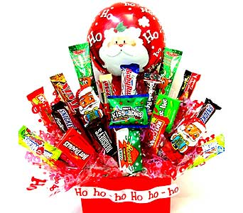 HCB2503 ''Santa's Goodies'' Candy Bouquet in Oklahoma City OK, Array of Flowers & Gifts
