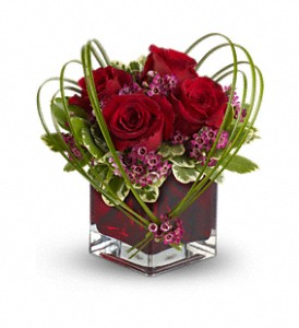 Teleflora's Sweet Thoughts Bouquet with Red Roses in Dearborn Heights MI, English Gardens