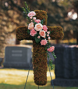Pink Bouquet Cross in Santa Clara CA, Citti's Florists