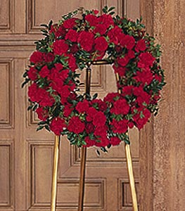 Red Regards Wreath in Santa Clara CA, Citti's Florists
