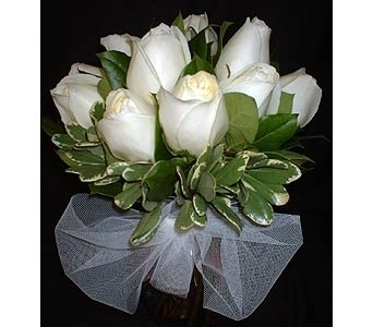 White Rose Cluster in Dallas TX, Z's Florist