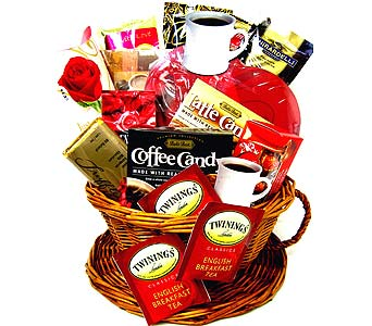 VGF44 ''Love You A Latte'' Gourmet Gift Basket in Oklahoma City OK, Array of Flowers & Gifts