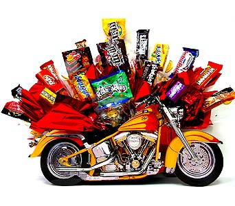 MotorcycleCB ''Motorcycle Fun'' Candy Bouquet in Oklahoma City OK, Array of Flowers & Gifts