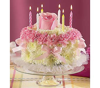 Pink Cake in Wichita KS, The Flower Factory, Inc.