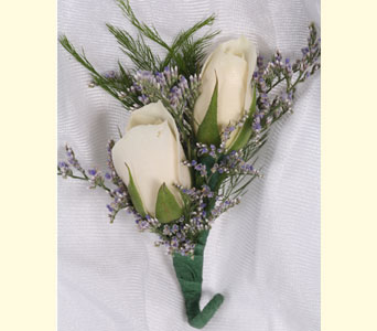Double Sweetheart Boutonniere in Southampton PA, Domenic Graziano Flowers