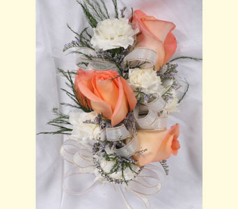 3 Rose 5 Mini Carnations Corsage in Southampton PA, Domenic Graziano Flowers