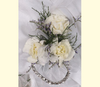 3 Mini Carnations Child Size Corsage in Southampton PA, Domenic Graziano Flowers