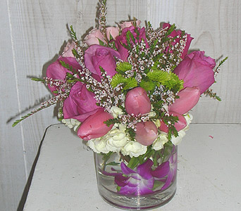 Purple & Pink Sensation in Dallas TX, Petals & Stems Florist