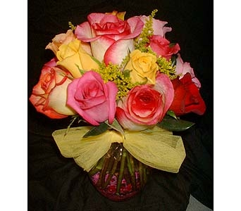 Assorted Rose Cluster in Dallas TX, Z's Florist