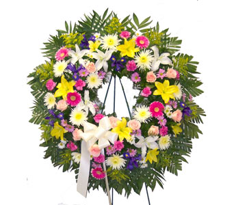 Multi-Color Wreath in Bayside NY, Bell Bay Florist