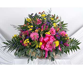 Wicker Funeral Basket in Southampton PA, Domenic Graziano Flowers