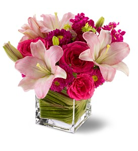 Teleflora's Posh Pinks in Mount Morris MI, June's Floral Company & Fruit Bouquets