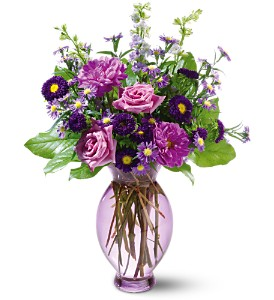 Teleflora's Lavender Inspiration Bouquet in Strathroy ON, Nielsen's Flowers & The Country Goose
