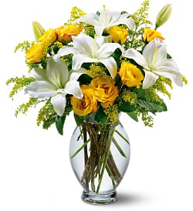 Teleflora's Pure Inspiration Bouquet in Dallas TX, Petals & Stems Florist