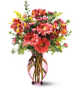 Teleflora's Pink Inspiration Bouquet in San Jose CA, Rosies & Posies Downtown