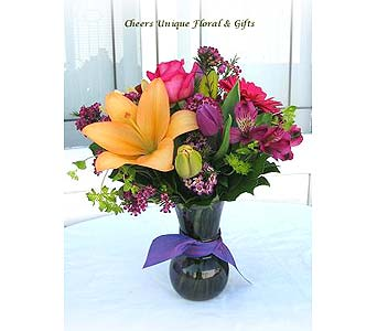 Wonderful & Colorful Bouquet in Lake Forest CA, Cheers Floral Creations