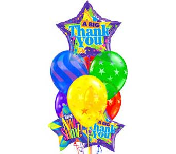 BB151 ''World of Thanks'' Balloon Bouquet in Oklahoma City OK, Array of Flowers & Gifts