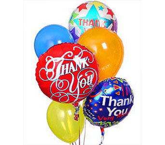 BB152 ''All Around Thanks'' Balloon Bouquet in Oklahoma City OK, Array of Flowers & Gifts