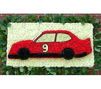 Race car in Brooklyn NY, David Shannon Florist & Nursery
