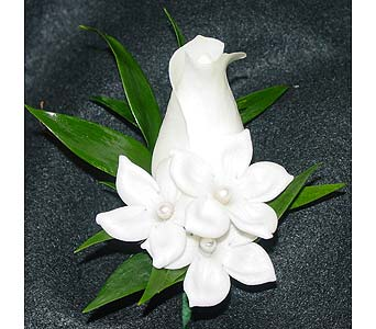 Rose and Stephanotis with pearls in Massapequa Park NY, Bayview Florist & Montage  1-800-800-7304