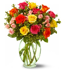 Teleflora's Summertime Roses in Friendswood TX, Lary's Florist & Designs LLC