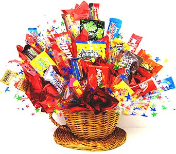 CB143 ''Cup & Saucer''' Candy Bouquet in Oklahoma City OK, Array of Flowers & Gifts