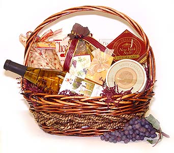 Wine and Cheese Basket in Raritan NJ, Angelone's Florist