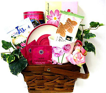 GF58 ''Tea Party'' Gourmet Gift Basket in Oklahoma City OK, Array of Flowers & Gifts