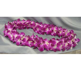 Orchid Lei-Floral Necklace in Orange CA, Main Street Florist