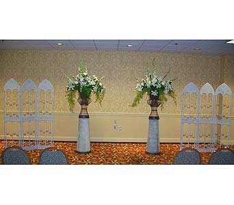 White Wedding Panel of Candles & Urns 1 in Bethany OK, Ann's Secret Garden