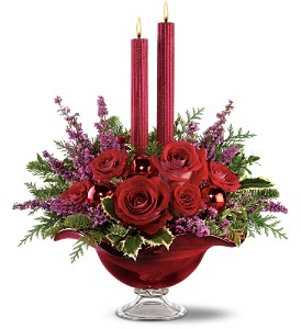 Teleflora's Crimson Christmas Bouquet in Oklahoma City OK, Array of Flowers & Gifts