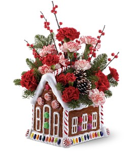 Teleflora's Gingerbread House Bouquet in Sayville NY, Sayville Flowers Inc