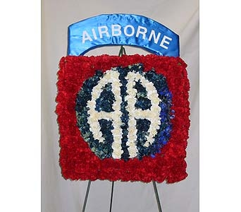 Airborne Tribute Standing Spray in Richboro PA, Fireside Flowers