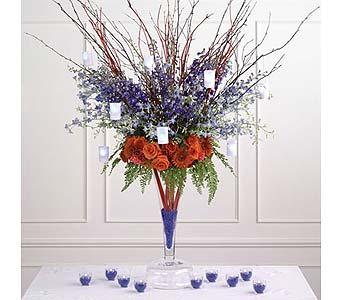 Exeter Florist Ca Flower Delivery Avas Flowers Blue Sympathy Casket Spray