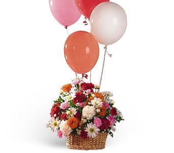 Soaring Balloons and Blooms by 1-800-balloons