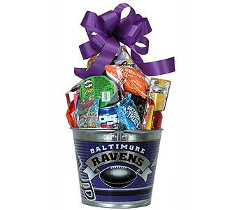 Ravens Junk Food Party Bucket in Towson MD, Radebaugh Florist and Greenhouses