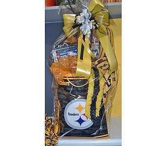 Steelers Tailgater Basket in McKees Rocks PA, The Flowersmith
