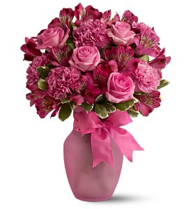 Pink Blush Bouquet in Danvers MA, Novello's Florist