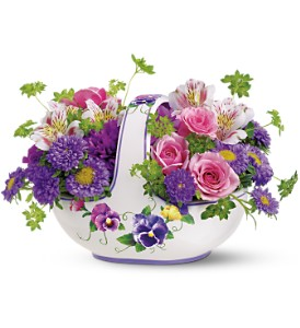 Teleflora's Sweet Pansy Basket Bouquet in Rochester NY, Expressions Flowers & Gifts