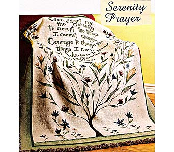 Serenity Prayer Throw in Perrysburg & Toledo OH  OH, Ken's Flower Shops