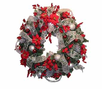 HW-2212 ''BERRY MERRY'' CHRISTMAS WREATH in Oklahoma City OK, Array of Flowers & Gifts