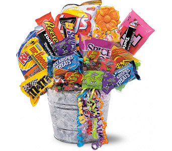 A candy gift basket makes a nice gift